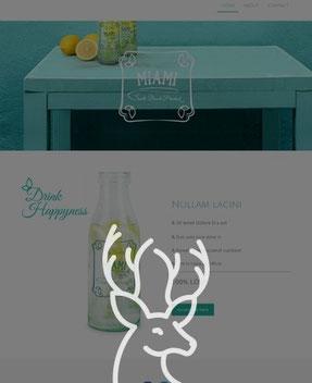 Jimdo Design-Vorlage Miami