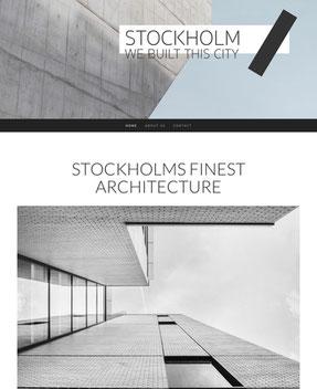 Jimdo Design-Vorlage Stockholm