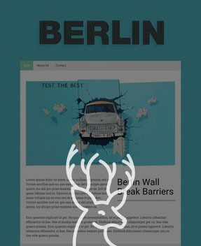Jimdo Design-Vorlage Berlin