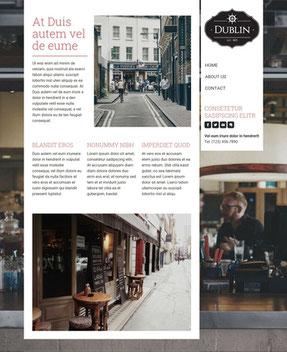 Jimdo Design-Vorlage Dublin