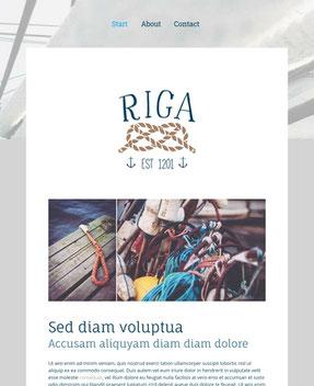 Jimdo Design-Vorlage Riga