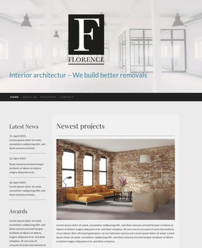 Jimdo Design-Vorlage Florence