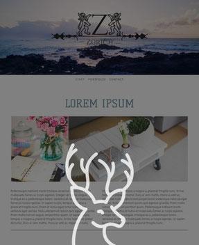Jimdo Design-Vorlage Zurich