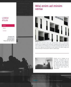 Jimdo Design-Vorlage Lima