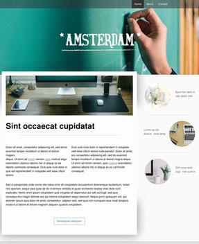 Jimdo Design-Vorlage Amsterdam
