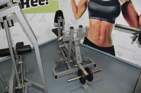 Тренажер силовой Гребная тяга с упором на грудь нагружаемый дисками