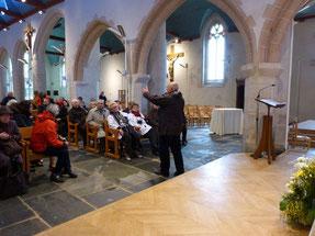 La visite de l'église St Pierre