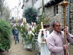 Hosannah ! Procession jusqu'à l'église