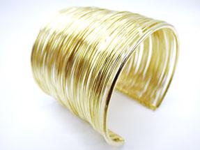 bijou bracelet manchette doré pour femme