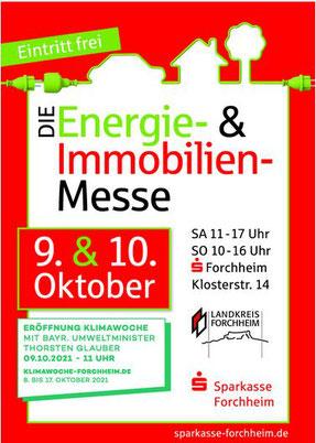 """Plakat """"Die Energie- & Immobilien-Messe 2021"""""""