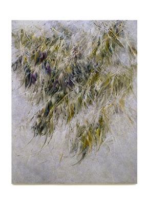 Skriptur  XXIII 2016 Kunstharz, Steinmehl, Acrylfarbe, Ölfarbe auf Leinwand 130 x 100 cm