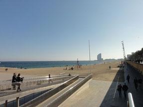 la plage à Barcelone