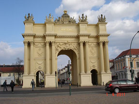 la porte de Brandenburg à Potsdam