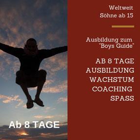 Urlaub Vater Sohn Wochenende Tirol Kitzbühel Ausbildung Weiterbilden Freude Emotionen Erlebnis Abenteuer Vater Sohn Männers Natur Mut Vertrauen Überwindung Spannung Wasser Steine Spaß