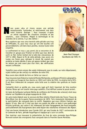 Cahier N°:95 - Juin 2020 - EDITO