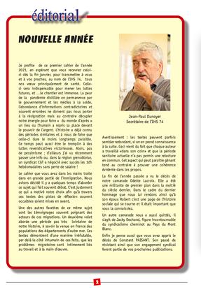 Cahier N°98: Editorial