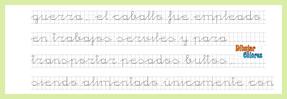 pauta segunda fábula 1 en caligrafía
