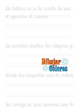 caligrafía dos pautas con frases 011