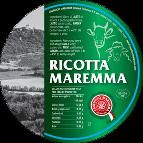 ricotta mix mixed maremma sheep sheep's cow cow's cheese dairy caseificio tuscany tuscan spadi follonica label italian origin milk italy fresh tender cream panna
