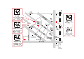 渋谷5店舗地図。