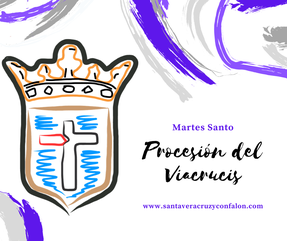 Martes Santo. Procesión de Viacrucis. www.santaveracruzyconfalon.com