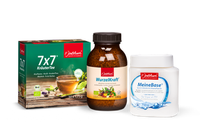 Bild: Das Jentschura Produkte-Trio zur erfolgreichen Entschlackung