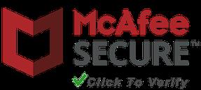 McAfee SECURE: Auf Logo klicken für mehr Infos.