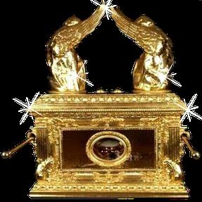 L'Arche de l'alliance possède une puissance colossale, elle représente la présence de Dieu YHWH. Personne ne peut la regarder ou la toucher et rester en vie. 2 chérubins sur le Propitiatoire en or pur.