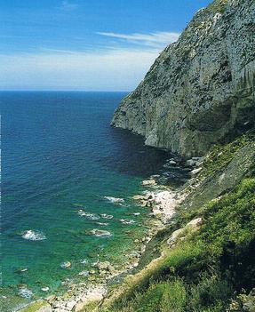 Vista del entorno natural  del  Peñón de Ifach (Penyal d´Ifac), Alicante (Comunitat Valenciana)
