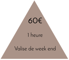 Prix valise de week-end 1 heure - 60€