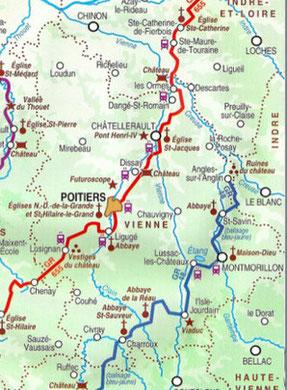 """""""Sentiers vers Saint Jacques de   Compostelle via Tours""""  FFR"""