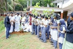植林には、地域の人々も参加