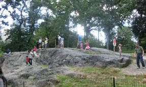 セントラルパーク動物園の岩場。2013年8月、村上撮影。