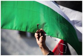 """Palestine Nakba Day demo in Berlin"" by Libertinus (licensed under CC BY-SA 2.0)."