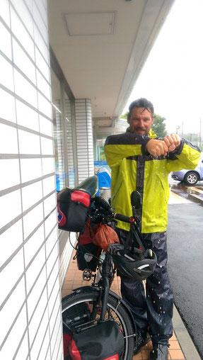 Der Regen hat uns (oder wir ihn) auf Honshu zeitweise fest im Griff.