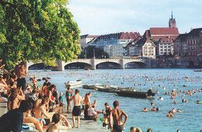 Nadar en el Rio en Basilea