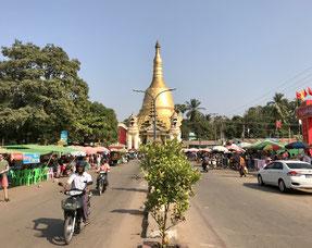 Stadtzentrum in Bago