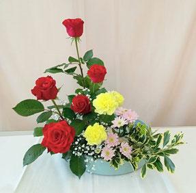 小原流生け花、ならぶ形、生け花教室高鍋町