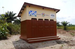 Schultoilette in Bénin (© Ecole de Solidarité/Bildungswerk Westafrika e.V.)