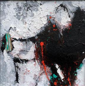 """SERIE 15/15 - """"Advantage life 04"""" - Acryl auf festem Papier hinter Passepartout/ Gesamtformat 30 x 30 cm"""
