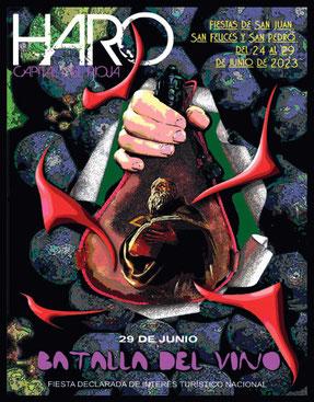 Cartel y programa de las Fiestas de San Juan, San Felices y San Pedro en Haro