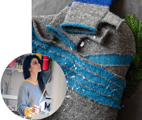 Fashion Gift, mittens designed and eco-friendly produced by Valentina Karellas in London, A maker featured in the PASiNGA artisan Christmas gift guide series