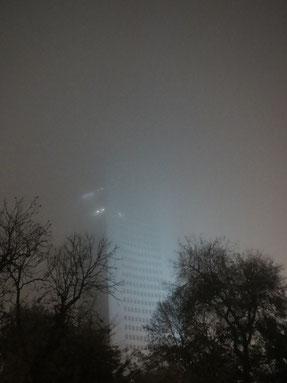 Leipziger Uniriese im Nebel / Foto: P.H.