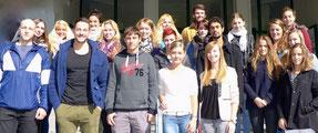 Neue Studierende aus dem 1. Semester am Bodensee Campus
