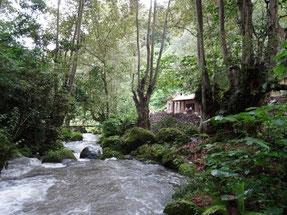 Río de San Lorenzo y primera casita de sanación