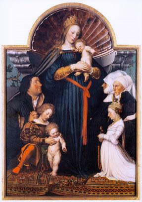 Hans Holbein - La Madone de Darmstadt - 1526-28