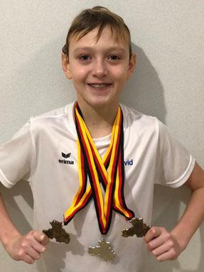 Drei Medaillen für David Lange