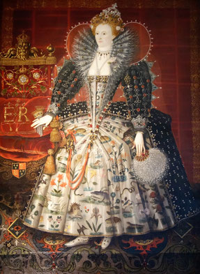 Elizabeth I, Hardwick Portrait (photo: Nina Möller) - fashion tudor elizabethan dress