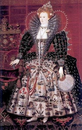 Elisabeth I., Hardwick Portrait (flickr, Abb. von Lisby) Mode