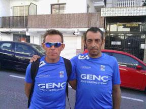 Manolo Serrano a la izquierda de la imagen, junto Francisco Arcos.